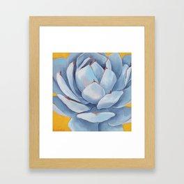 Blue Succulent Framed Art Print