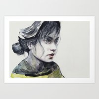 dragonfly Art Prints featuring Dragonfly by agnes-cecile