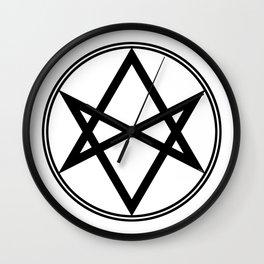 Men of Letters Symbol Black Wall Clock