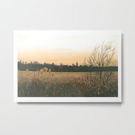 Meadow Skyline Metal Print