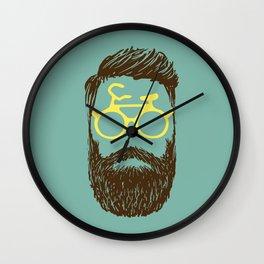 Hipster Biker Wall Clock