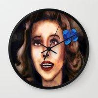 dorothy Wall Clocks featuring Dorothy by Amanda Lee