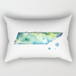 Tennessee Watercolor Map - State Map Art - Watercolor Maps Rectangular Pillow