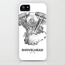 Vintage Harley Shovelhead Motorcycle Engine iPhone Case