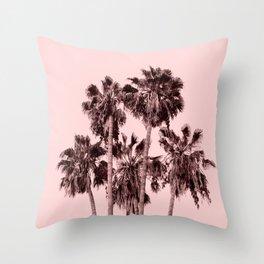 Palms on Blush Throw Pillow