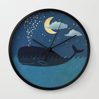 star Wall Clocks featuring Star-maker by Terry Fan