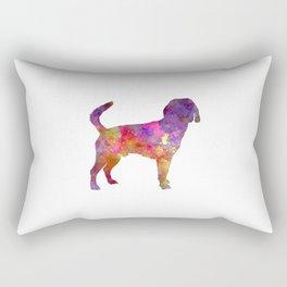 Beagle Harrier in watercolor Rectangular Pillow