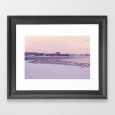 Nordic winter Framed Art Print