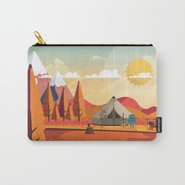 Wild Camping Autumn Landscape Carry-All Pouch