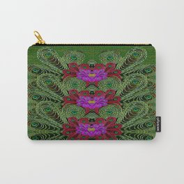 Metal Peacock In paradise Land Carry-All Pouch