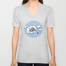 Cloud Bench for Squirrels Unisex V-Neck
