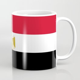 flag of egypt- Egyptian,nile,pyramid,pharaon,cleopatra,moses,cairo,alexandria. Coffee Mug