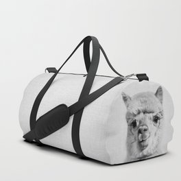 Alpaca - Black & White Duffle Bag