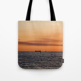 Orange Summersunset Feeling - Warnemuende - Baltic Sea Tote Bag