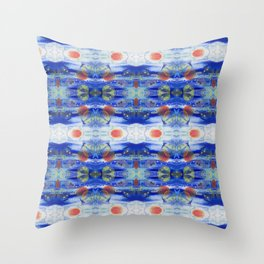 Under The Sea Abstract Art Repeating Pattern Throw Pillow