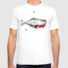 white whale Mens Fitted Tee SMALL White