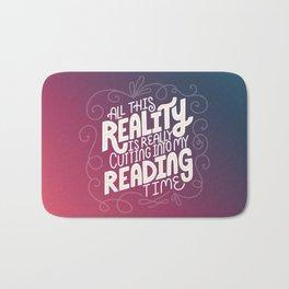 Reality Vs. Reading Rainbow Bath Mat