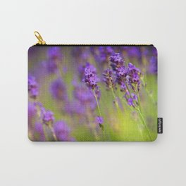 Textured background of lavender flowers Carry-All Pouch