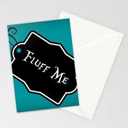 """Fluff Me"" Alice in Wonderland styled Bottle Tag Design in 'Alice Blue' Stationery Cards"