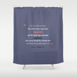 B.A.P Yongguk Quote Shower Curtain