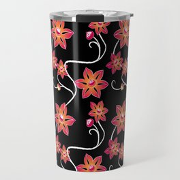 Black Clematis Travel Mug