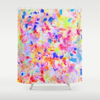 large Shower Curtains featuring LARGE EVOLUTION by Happy as Flynn