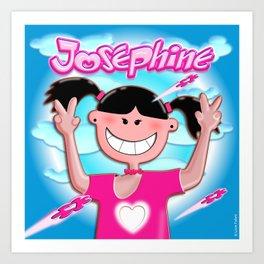 Josephine with pink shirt! Art Print