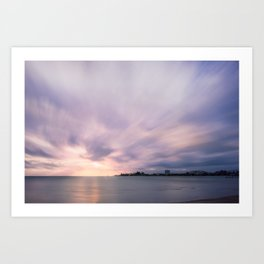 Serene Sunset at Anse Vata Bay in New Caledonia. Art Print