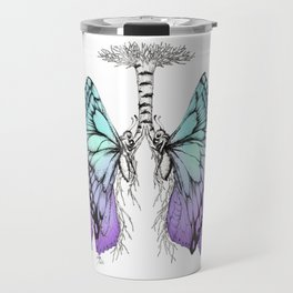 Butterfly Lungs Blue Purple Travel Mug