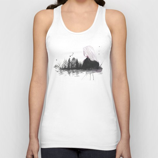 dried-out rivers Unisex Tank Top