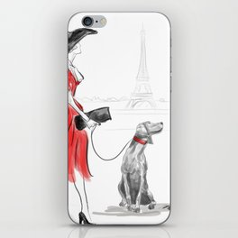 WEIMARANER IN PARIS iPhone Skin