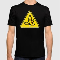 Hazardous roads Black 2X-LARGE Mens Fitted Tee