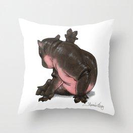 HippoCat Throw Pillow