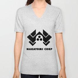 Nakatomi corp Unisex V-Neck