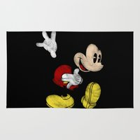 mickey Area & Throw Rugs featuring DISNEY MICKEY MOUSE: DARK MICKEY by DrakenStuff+