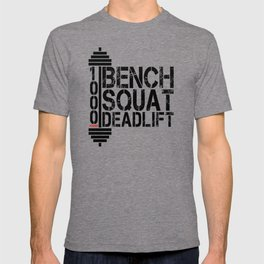 1000 Pounds Bench Squat Deadlift Powerlift Club Fitness Bodybuilder Bodybuilding T-shirt