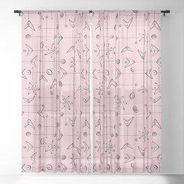 Atomic Mobiles Sheer Curtain