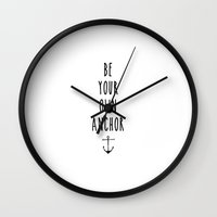 teen wolf Wall Clocks featuring Teen Wolf / Anchor by ldyghst