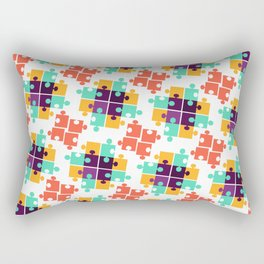 Jigsaw Puzzle Autism Pattern Gift Rectangular Pillow