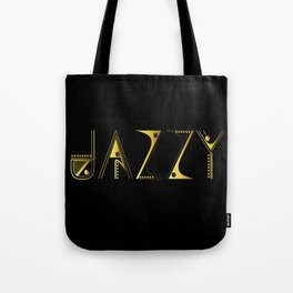 Jazzy Letterform Tote Bag