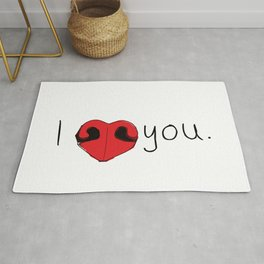 I Love You. Dog Nose Rug