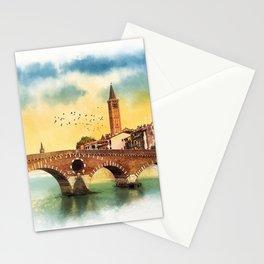 Bridge in Verona Stationery Cards