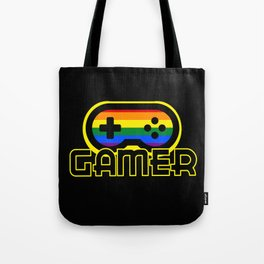 Rainbow Gamer Tote Bag