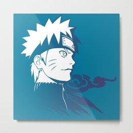 Naruto Uzumaki Bluesth Metal Print