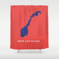 norway Shower Curtains featuring Norway by Hunter Ellenbarger