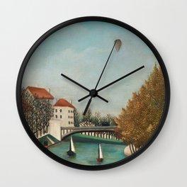 Study for View of the Pont de Sèvres - Henri Rousseau Wall Clock