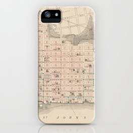 Vintage Map of Jacksonville FL (1878) iPhone Case