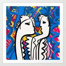 Love is Graffiti Urban Art People by Emmanuel Signorino Art Print