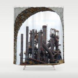 Bethlehem Steel Blast Furnace 6 Shower Curtain