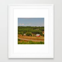 farm Framed Art Prints featuring Farm by greenelent